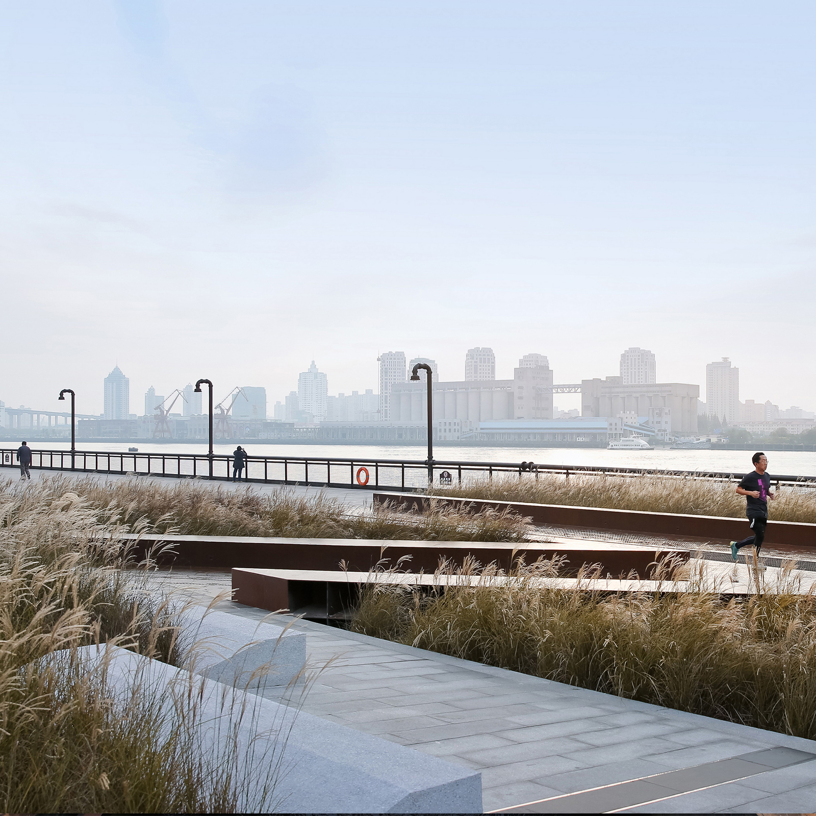 Landscape of the Year Winner 2019: Original Design Studio - Demonstration Section of Yangpu Riverside Public Space, Shanghai, China